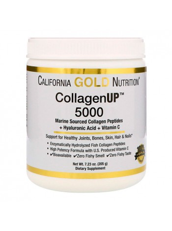 California Gold Nutrition CollagenUP 5000 + Hyaluronic Acid 205 г