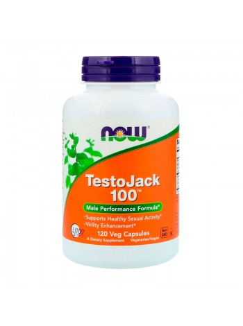 NOW TestoJack 100 120 вегетарианских капсул
