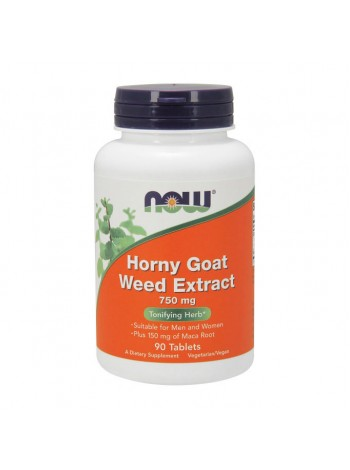 NOW Horny Goat Weed Extract 750 мг 90 таблеток