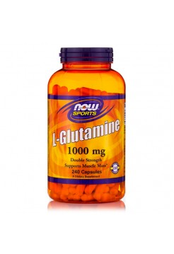 Аминокислоты NOW L-Glutamine 1000 мг 240 капсул