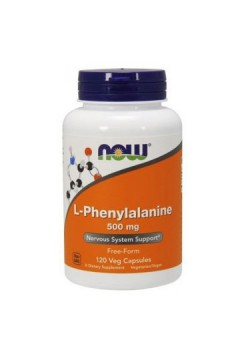 Аминокислоты NOW L-Phenylalanine 500 мг 120 капсул