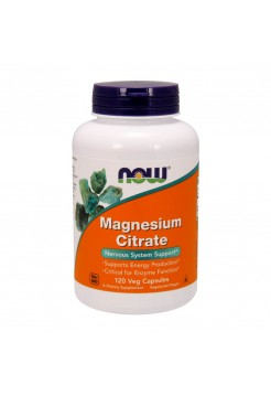 Витамины NOW Magnesium Citrate 120 вегетарианских капсул