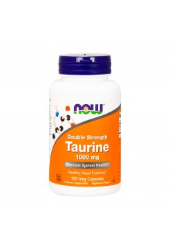 Аминокислоты NOW Taurine 1000 мг 100 капсул